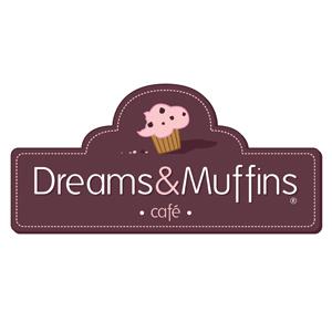 Logo para cafetería Dreams&Muffins
