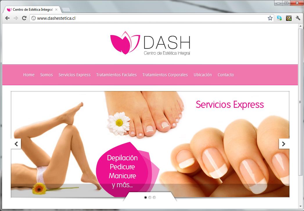 Sitio web Dash Estética