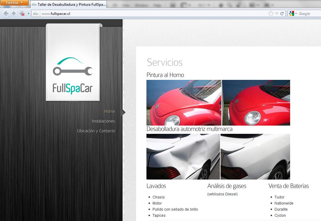 Sitio web Full Spa Car
