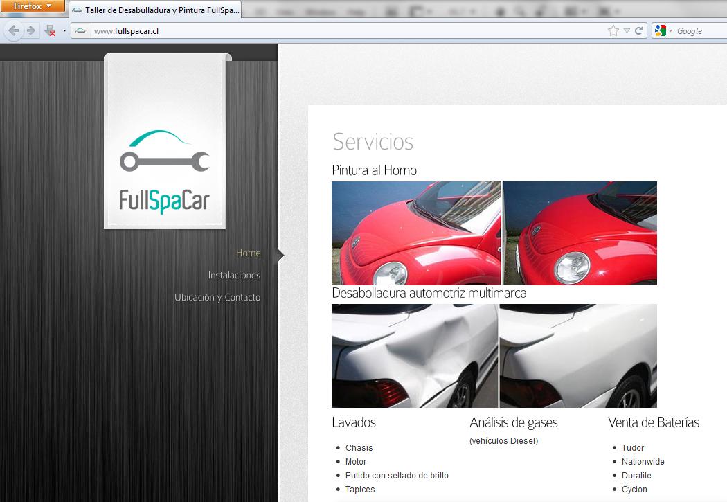 Sitio web Full Spa Car