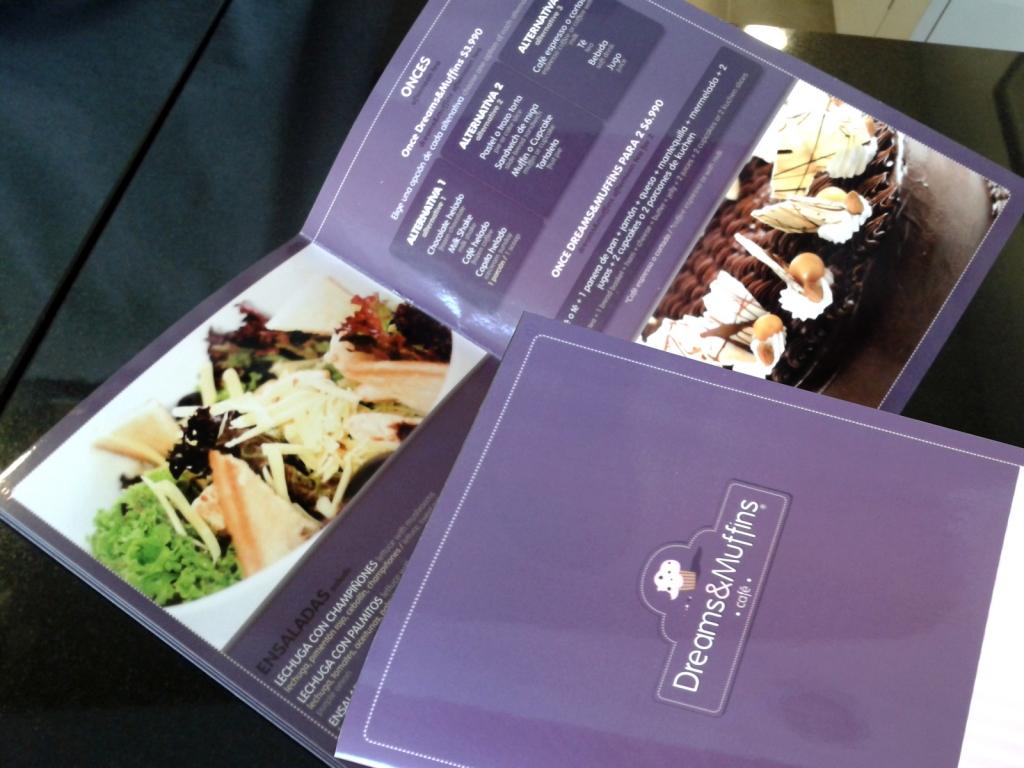 Carta de productos para Dreams&Muffins