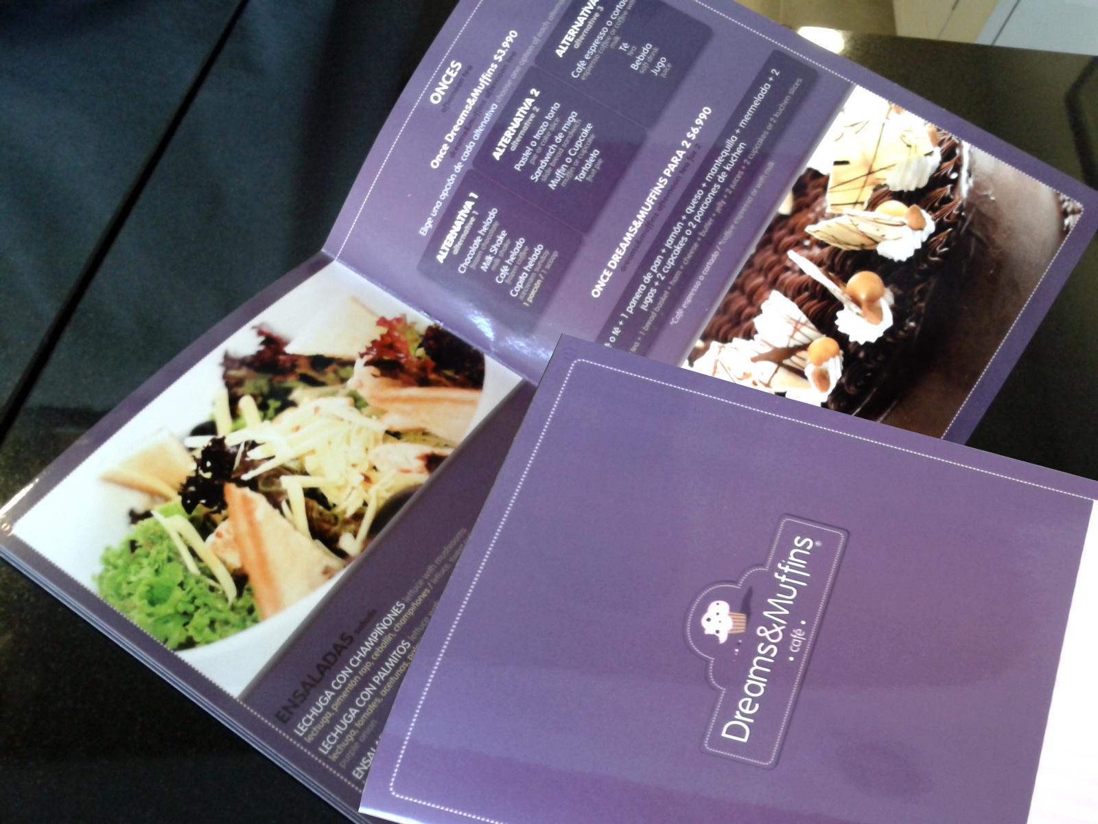 Carta de productos Dreams&Muffins