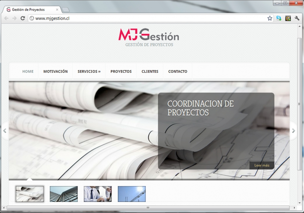 Sitio web para MJ Gestión