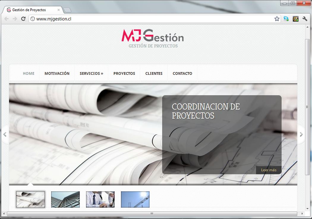 Sitio web MJ Gestión