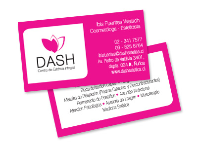 Tarjetas Dash Estética