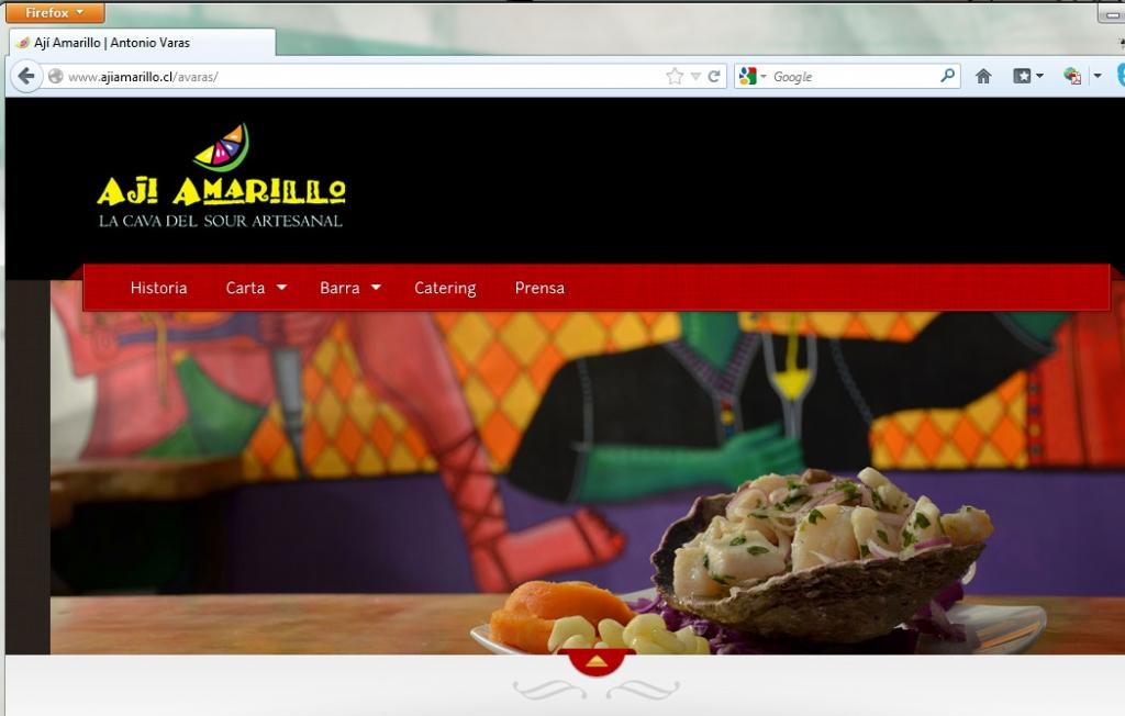 Sitio web para restaurante peruano Ají Amarillo