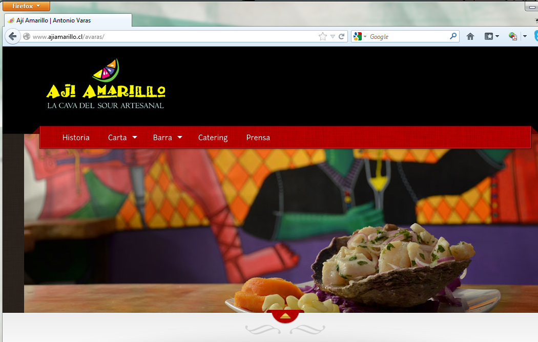 Sitio web restaurante peruano Ají Amarillo