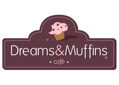 Logo cafetería Dreams&Muffins