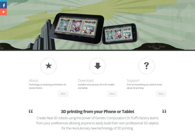 Sitio web app Robot Factory