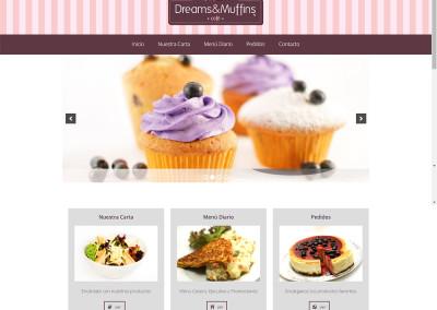 Sitio web cafetería Dreams&Muffins