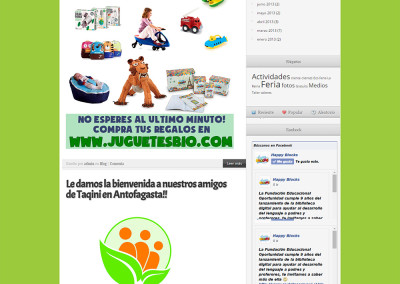 Sitio Web juguetes Happy Blocks