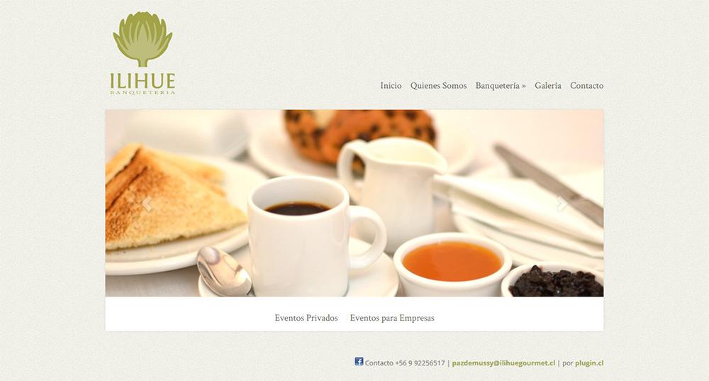 Sitio web Banquetera Ilihue