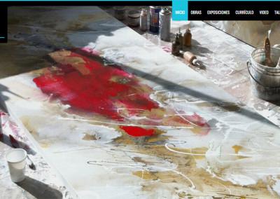Sitio web pintora Margarita Garcés (para agencia Adhoc)