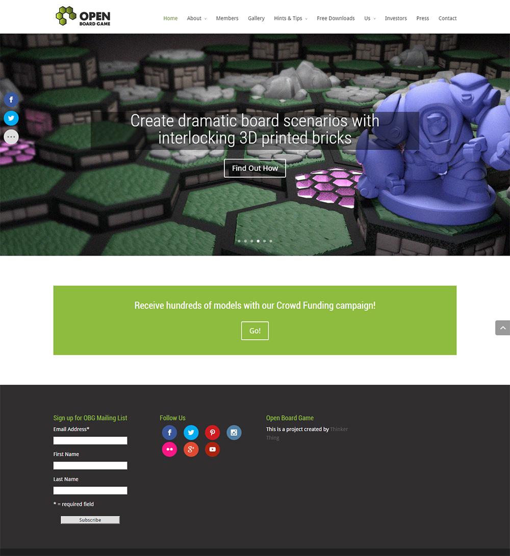 Sitio web Open Board Game