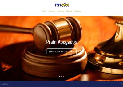 Sitio web Prain Abogados