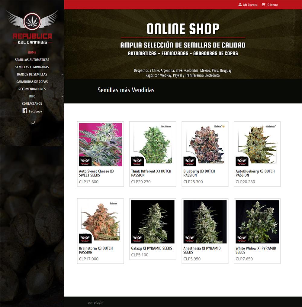 República del Cannabis, Venta OnLine