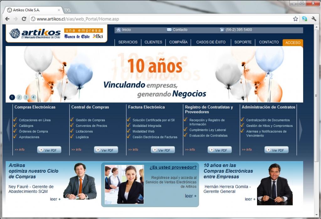 Diseño sitio web Artikos