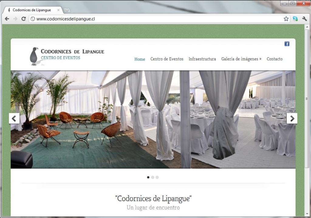 Sitio web para Codornices de Lipangue