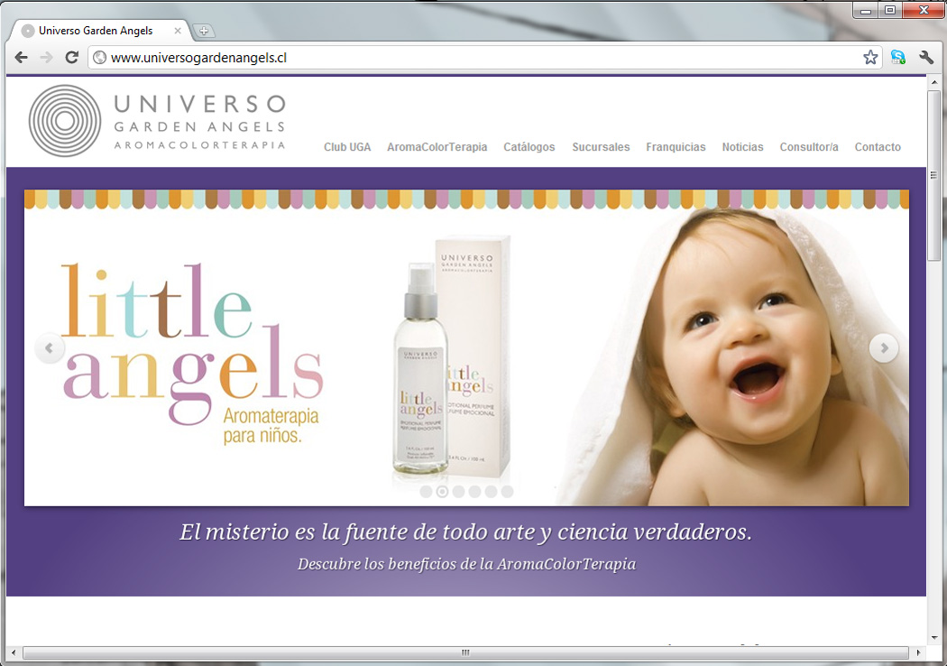 Sitio web Universo Garden Angels