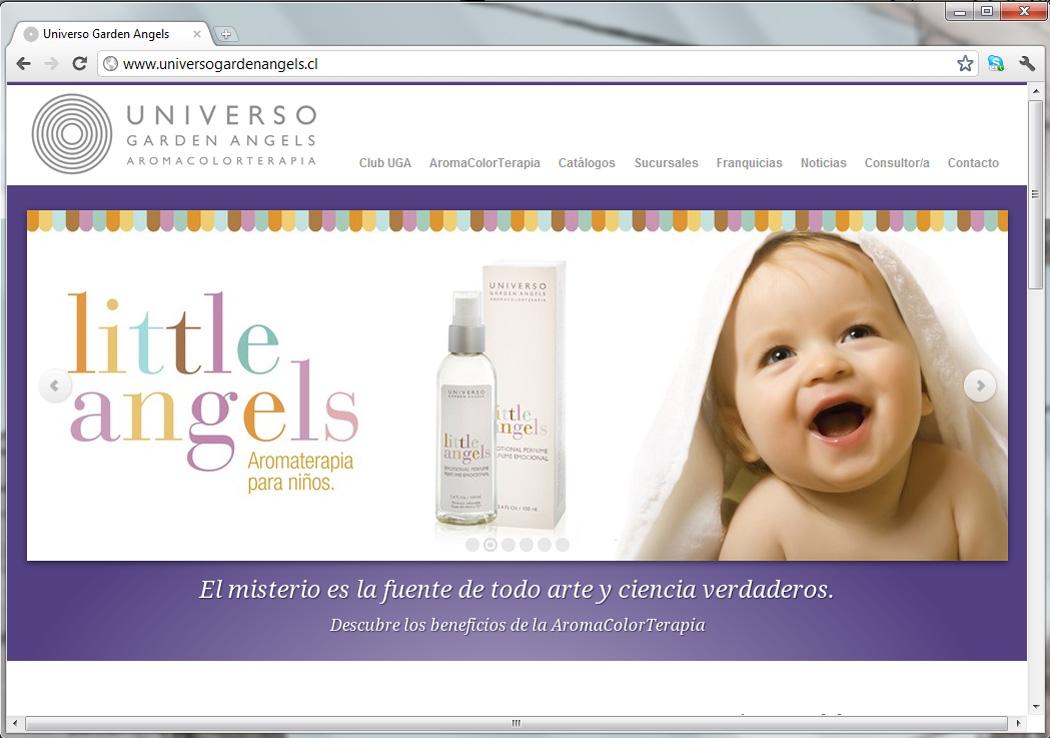 Sitio web Universo Garden Angels